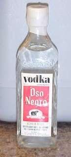 OSO NEGRO Vodka Mexico Tax Stamp Vintage