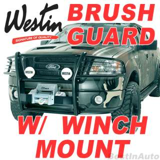 WESTIN 200 2012 Toyota Tundra Black Winch Mount Grille Brush Guard