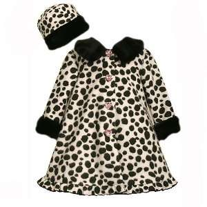 WHITE LEOPARD ANIMAL PRINT DRESS COAT/JACKET HAT SET Bonnie Jean