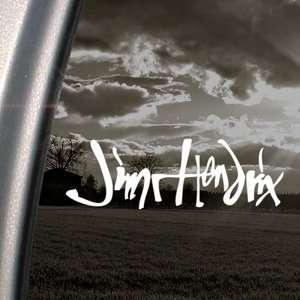 Jimi Hendrix Signature Guitar Logo Decal Car Sticker