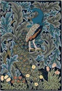 William Morris Peacock Tapestry Counted Cross Stitch Pattern Chart