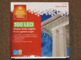 New Case Lot 8 Boxes of 100 LED Dome Icicle XMAS Lights Multi Color