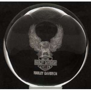 Laser Crystal Ball Harley Eagle + 3 Led Light Stand
