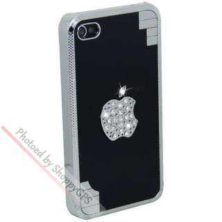 Glitter Crystal Diamond Aluminum Case Cover For Apple iPhone 4G
