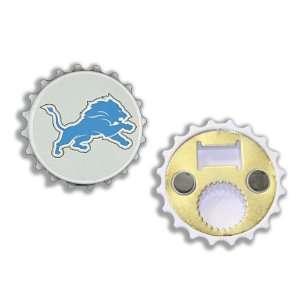 Detroit Lions Bottle Cap Bottle Opener Magnet Sports