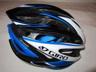 Giro Atmos Cycling Helmet Black/White/Blue Medium