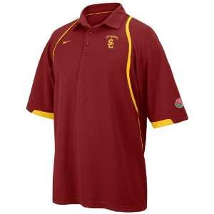Nike USC Trojans Crimson 2008 Rose Bowl Bound Coaches Polo