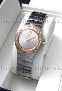 Ladies Movado SPORTS EDITION SE Diamond Rose Gold RARE Swiss Watch