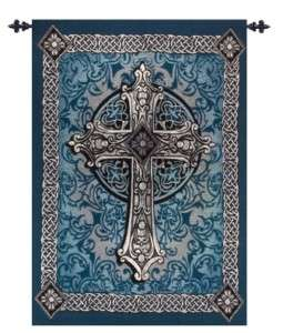 36x26 Medieval Celtic Cross Tapestry Wall Hanging