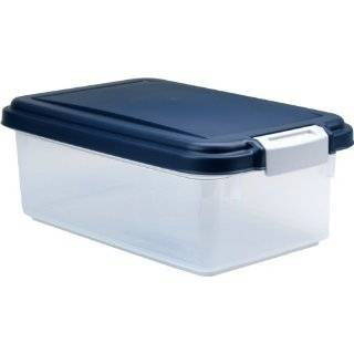 IRIS Airtight Pet Food Storage Container for Treats, 12 Quart, Navy