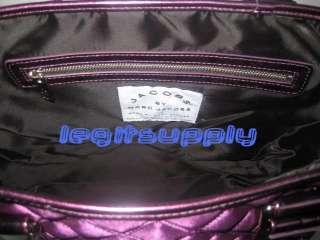 MARC JACOBS Purple Quilted Satin Tote Bag Handbag Purse
