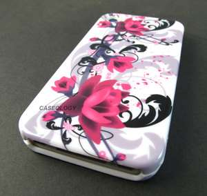 FLOWERS HARD SHELL CASE COVER APPLE IPHONE 4 4s PHONE ACCESSORY