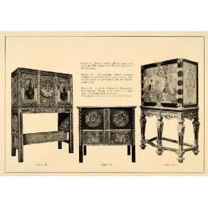 Romanesque Music Cabinet Deco   Original Print Ad