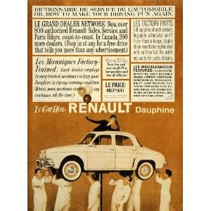 1960 Ad Renault Dauphine Automobile Mechanics Pricing