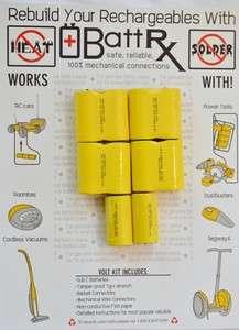DeWalt 14.4 Volt battery rebuild kit High drain NiCd 2.1 amps