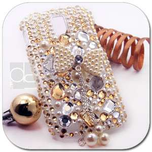 Gold 3D BLING Hard Skin Case Cover For T mobile Samsung Galaxy S 2 II