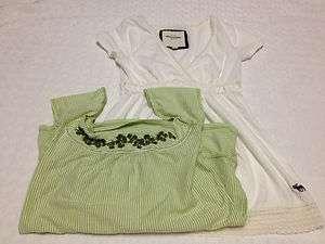 girls ABERCROMBIE logo short sleeve shirts L large