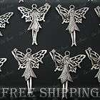 Antique Tibetan Silver Angel Fairy Wing Charm Pendant TS621