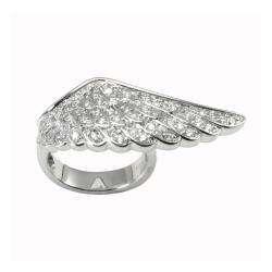 Brass Angel Wing Ring