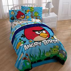 Angry Birds Twin size 4 piece Bed in a Bag with Sheet Set  Overstock
