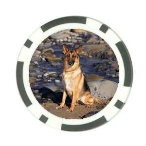 German shepherd dog Poker Chip Card Guard Great Gift Idea