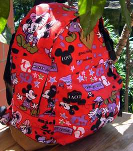 Mickey Mouse Fashion School Bag Plush Backpacks Cute Lovely GIFT Free