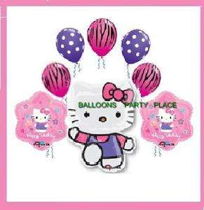 HELLO KITTY ZEBRA PINK balloons party suppy birthday xl