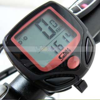 LCD Bike Bicycle Cycle Computer Odometer Speedometer NR Waterproof