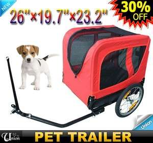 New Red Bike Bicycle Pet Cat Dog Trailer Carrier Medium
