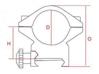 DIA 30mm SEE THRU Scope Ring MEDIUM Profile Picatinny/Weaver