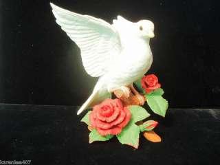 LENOX BIRD PORCELAIN FIGURINE CHRISTMAS DOVE RETIRED