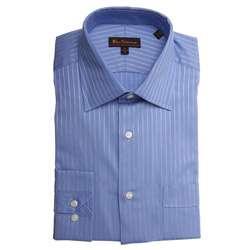 Ben Sherman Mens Tonal Striped Dress Shirt