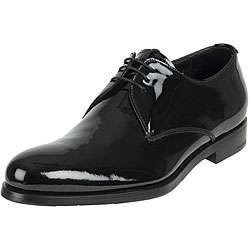 Prada Mens Vernice Black Patent Leather Shoes