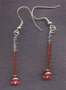 Funky THERMOMETER EARRINGS Nurse Medical Charms Jewelry