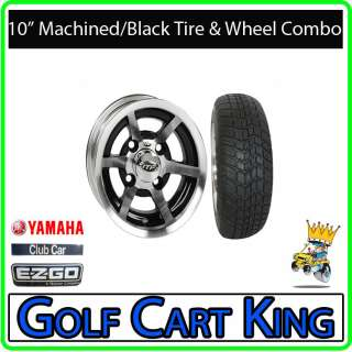 Low Profile Golf Cart 10 Wheel and 205x50 10 Tire Combo  EZGO Club