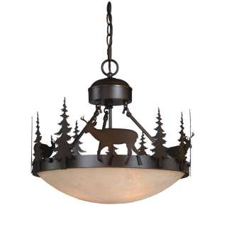 NEW 3 Light Rustic Deer Pendant OR Semi Flush Lighting Fixture