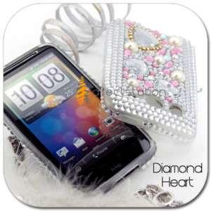 BLING Rhinestone Gem Soft Skin Case HTC DESIRE HD A9191