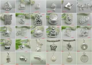 925 STERLING SILVER CHARM BEADS PENDANT FIT BRACELET NECKLACE EARRINGS