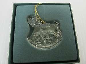 LENOX CRYSTAL CHRISTMAS TREE ORNAMENT ROCKIN HORSE 1992
