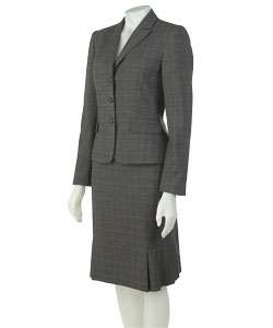 Tahari Grey/Black/Pink Two piece Skirt Suit