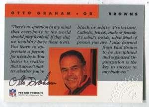 BROWNS/HOF Otto Graham 1992 Pro Line AUTOGRAPH (d.2003)