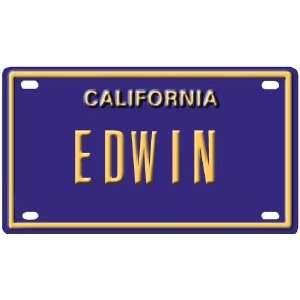 Edwin Mini Personalized California License Plate