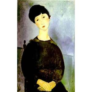 Oil Reproduction   Amedeo Modigliani   24 x 38 inches   Young Girl