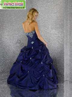 Halter Blue Wedding Party Dresses Bridal Gown Prom Ball Quinceanera