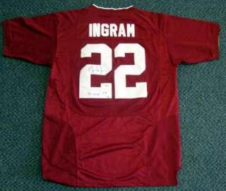 Mark Ingram Autographed Alabama Houndstooth Jersey 09 Heisman PSA/DNA