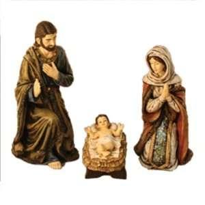 Mary, Saint Joseph, and Baby Jesus   3 piece set   Warm Colors Home