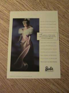 1996 BARBIE DOLL ADVERTISEMENT GLAMOUR AD COLLECTOR ED