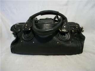 Chloe Made in Italy Paddington Black Leather Satchel Handbag Bag