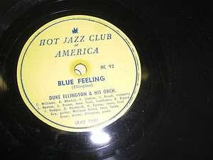 DUKE ELLINGTON HJCA JAZZ 78*RPM RECORD STEVEDORE STOMP