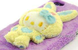 Hello Kitty 3 D Colorful Bunny Fluffy iPhone 4 Jacket Y